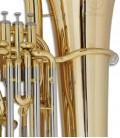 Foto detalle de los pistones de la Tuba John Packer JP378 Sterling