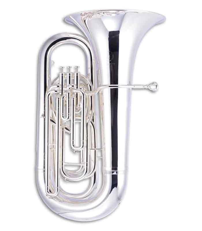 Tuba John Packer JP378S Sterling Si Bemol Prateada com Estojo