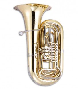Tuba John Packer JP379B Sterling 3/4 Si Bemol Dourada com Estojo