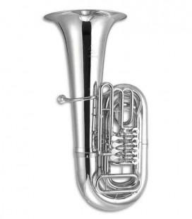 Tuba John Packer JP379BBS Sterling Si Bemol Plateada con Estuche