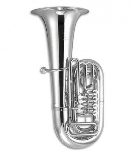Tuba John Packer JP379BBS Sterling Si Bemol Prateada com Estojo