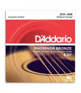 Juego de Cuerdas Daddário EJ17 para Guitarra Acústica