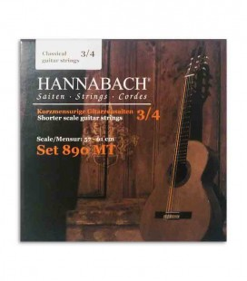 Jogo de Cordas Hannabach 890MT para Guitarra Clássica 3/4