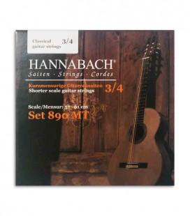 Juego de Cuerdas Hannabach 890MT para Guitarra Clásica 3/4