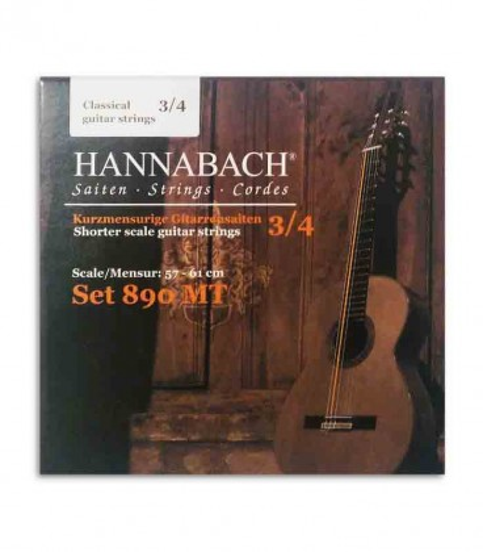 Hannabach Classical Guitar String Set 890MT Medium Tension 3/4