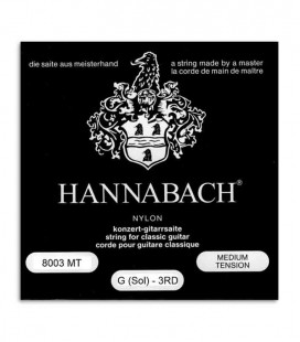 Corda Individual Hannabach E8003MT 3a SOL para Guitarra Clássica