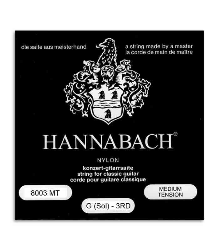 Cuerda Individual Hannabach E8003MT 3a SOL para Guitarra Clásica
