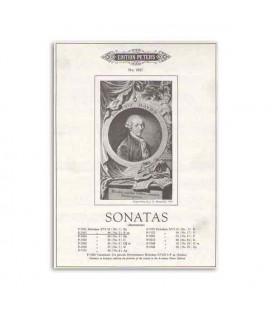 Libro Edition Peters EP7027 Haydn Sonatas Nº 2