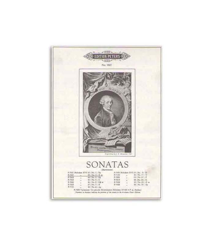 Livro Edition Peters EP7027 Haydn Sonatas Nº 2