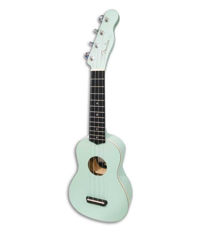 Foto do ukulele soprano Fender Venice Surf Green