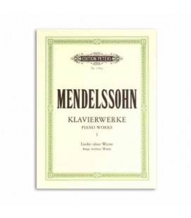 Libro Editition Peters P1704A Mendelssohn Piano Works Volumen 1