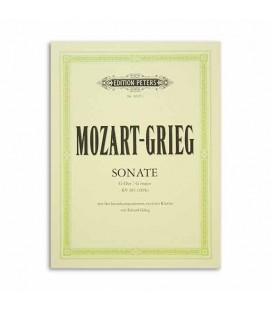 Libro Edition Peters EP8607C Mozart Grieg Sonata en Sol K283 Arreglos 2 Pianos