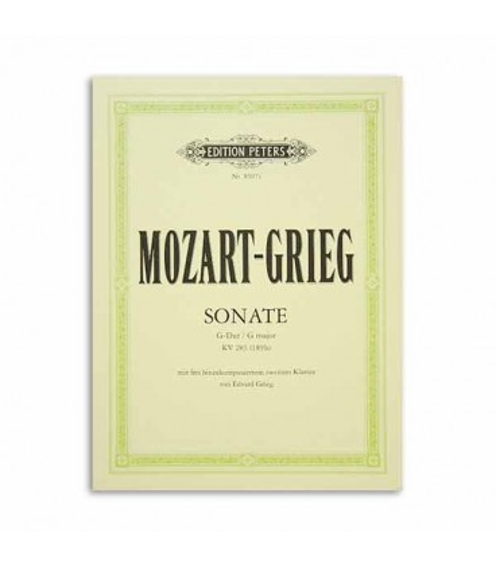 Livro Edition Peters EP8607C Mozart Grieg Sonata em Sol K283 Arranjos 2 Pianos