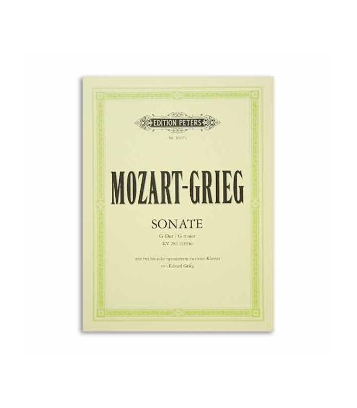Mozart Grieg Sonata en Sol K283 Arreglos 2 Pianos Peters