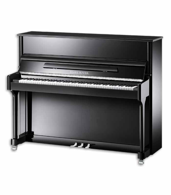 Pearl River Upright Piano AEU118S PE Classic 118cm Black Polish 3 Pedals