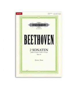 Edition Peters Book Beethoven Sonatas G minor G Major Opus 49 and 20 EP4019