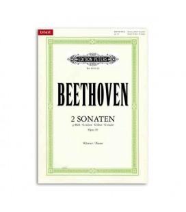 Livro Editions Peters EP4019 Beethoven Sonatas Sol menor Sol Maior Opus 49 e 20
