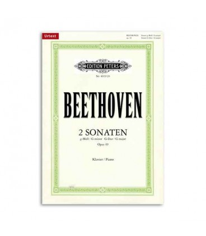 Beethoven Sonatas Sol menor Sol Maior Opus 49 e 20 Editions Peters