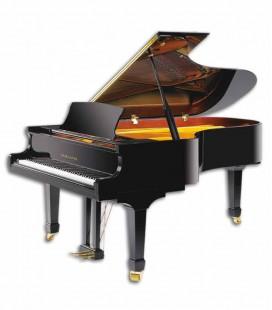 Piano Cauda Pearl River GP212 PE Semi-Concert Grand Preto Polido