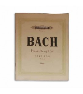 Livro Edition Peters P4463B Bach Partitas Vol II Nº 4 a 6