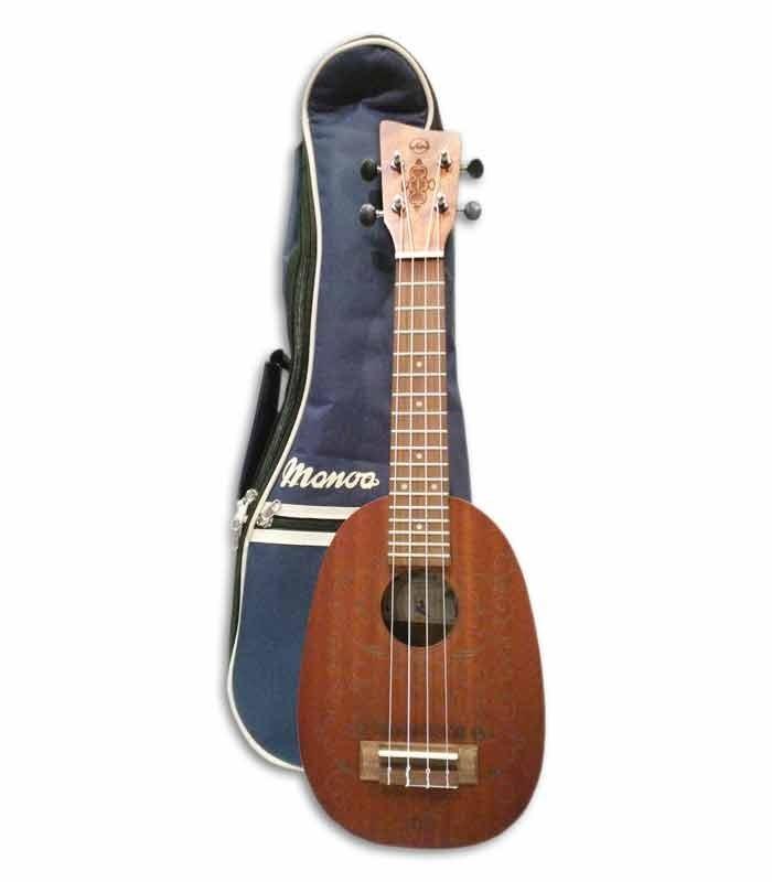 Foto do ukulele VGS Pineapple Manoa Kaleo com o saco
