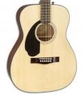 Guitarra Acústica Fender CC 60S Concert LH Natural para Esquerdino