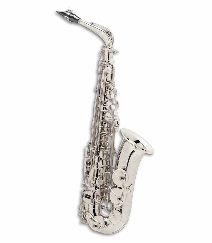 Saxofone Alto Selmer Super Action 80 II Mi Bemol Prateado com Estojo