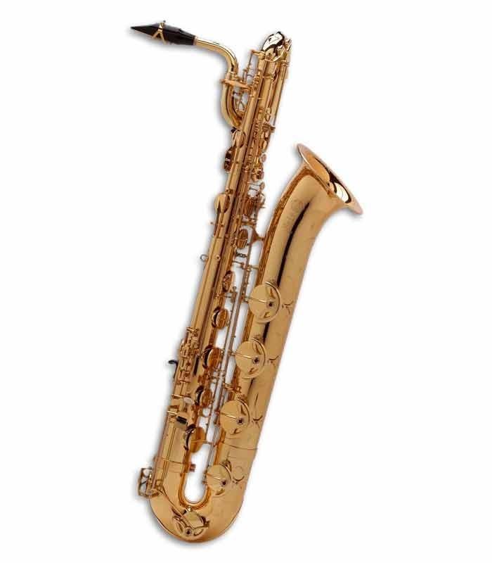 Saxofone Barítono Selmer Super Action 80 II Mi Bemol Dourado com Estojo
