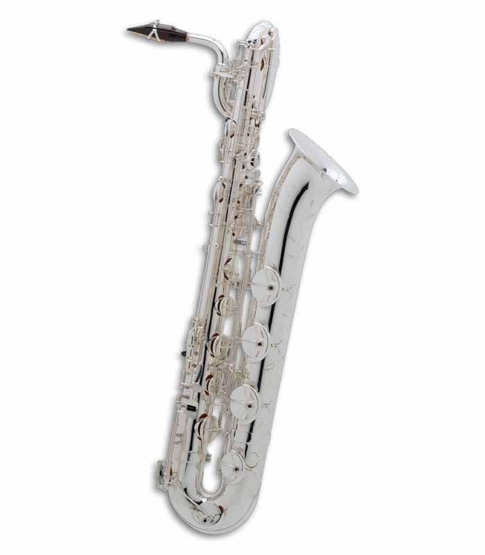 Saxofone Barítono Selmer Super Action 80 II Mi Bemol Prateado com Estojo