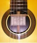 Roseta y etiqueta de la guitarra Teodoro Perez Madrid