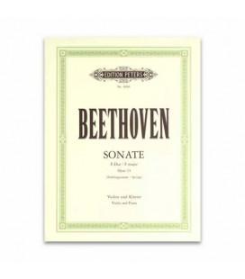 Livro Edições Peters EP4066 Beethoven Sonata da Primavera Opus 24