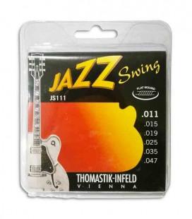 Jogo de Cordas Thomastik 011 Jazz Swing Guitarra Elétrica JS 111