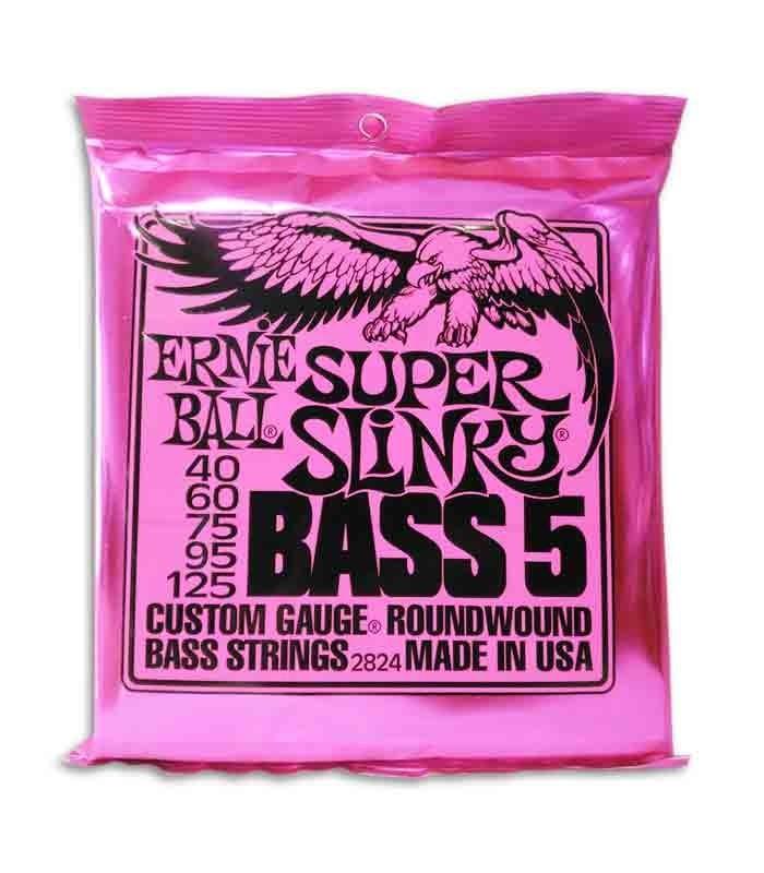 Juego de Cuerdas Ernie Ball 2824 040 a 125 para Bajo de 5 Cuerdas