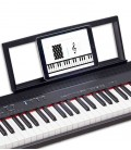 Roland Go Piano 88 com tablet na estante