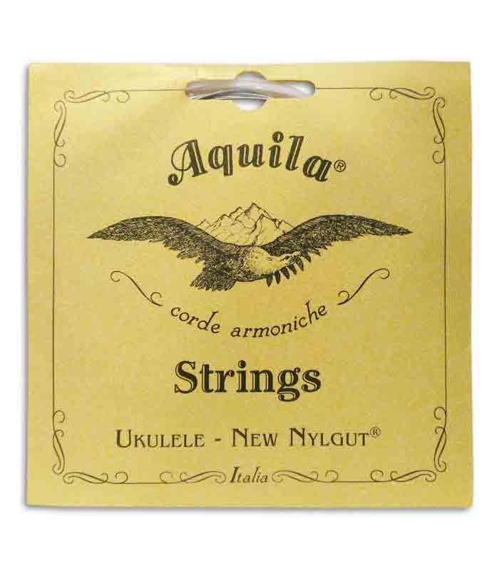 Foto frontal da la embalage del Juego de Cuerdas Aquila 21U para Ukulele Barítono