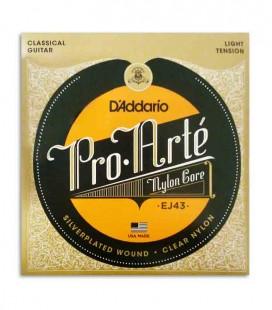 Juego de Cuerdas Daddário EJ43 Guitarra Clásica Nilón TEnsión Light