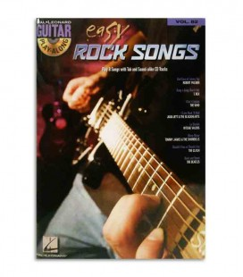Livro Play Along Guitar Easy Rock Songs HL00700177