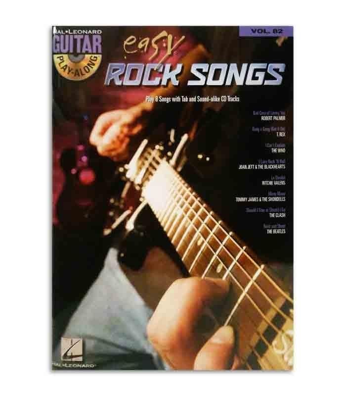 Tapa del libro Play Along Guitar Easy Rock Songs