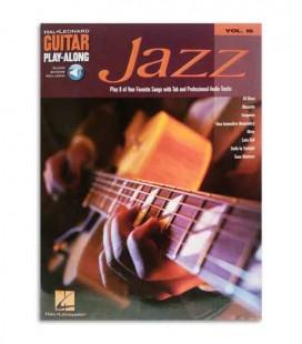 Contracapa do livro Play Along Guitar Jazz Volume 16