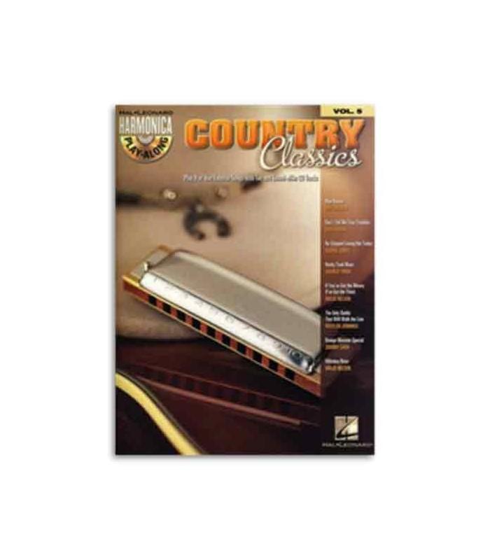 Libro Music Sales HL00001004 Harmonica Play Along Volume 5 Country Classics