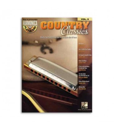 Livro Music Sales HL00001004 Harmonica Play Along Volume 5 Country Classics