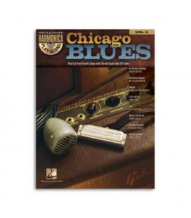 Livro Music Sales Harmonica Play Along Volume 9 Chicago Blues Book CD