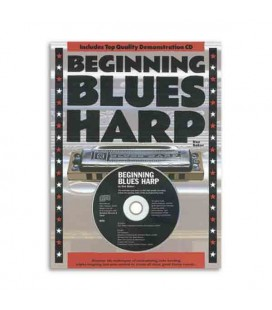 Livro Music Sales AM932184 Beginning Blues Harp Book CD