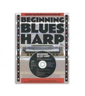 Music Sales Book Beginning Blues Harp Book CD AM932184