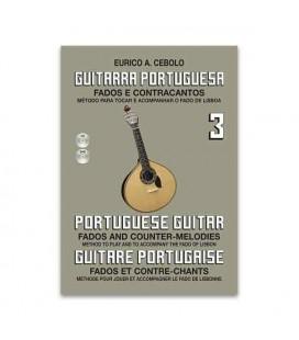 Livro Eurico Cebolo GP3 Método Guitarra Portuguesa 3 com CD