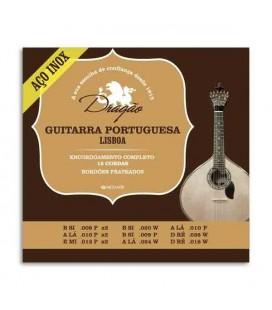 Jogo de Cordas Dragão 073 Guitarra Portuguesa Afinação Lisboa Aço Inoxidável
