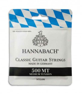 Juego de Cuerdas Hannabach 500MT para Guitarra Clásica Media Tensión