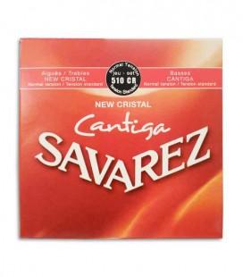 Jogo de Cordas Savarez 510 CR New Crystal Cantiga para Guitarra Clássica Tensão Normal