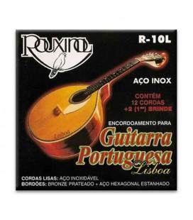 Jogo de Cordas Rouxinol Guitarra Portuguesa Lisboa Aço Inox R10L