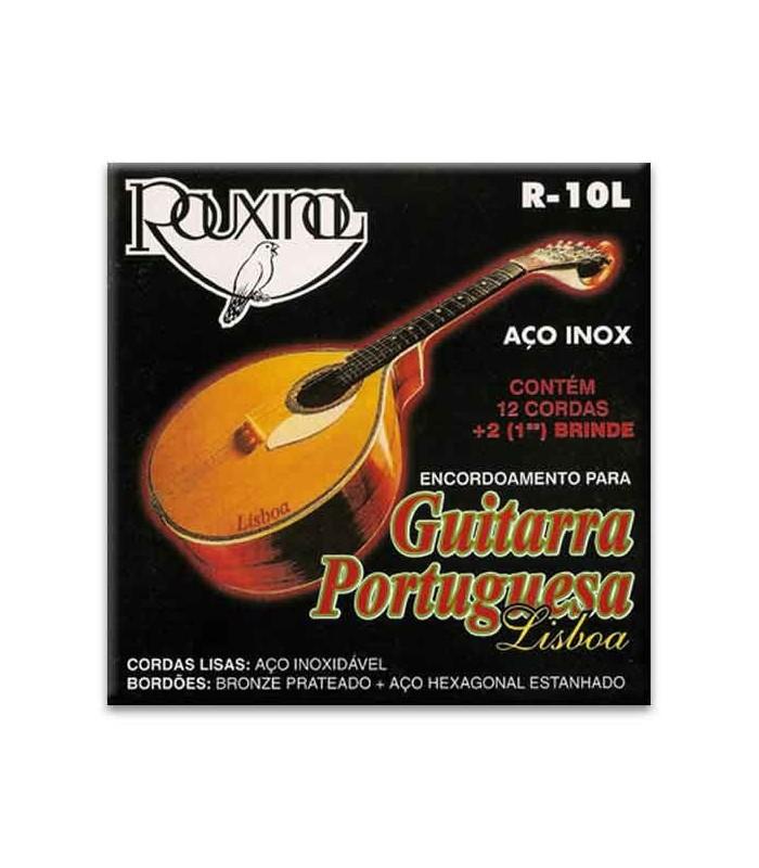 Embalagem do jogo de cordas Rouxinol R10L guitarra portuguesa